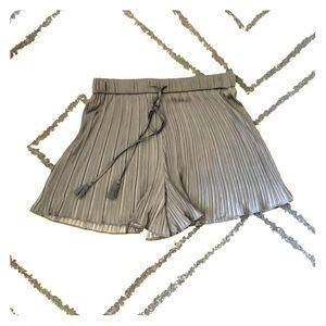 Dressy Black Pleated Zara Shorts